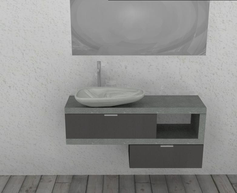 """Mobile da bagno """"lusso"""" sospeso mod el18 l.180cm doppio lavabo con ..."""