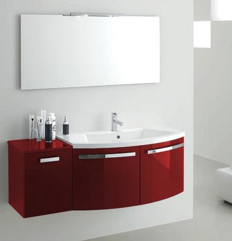 Mobile Bagno Rosso ~ Ispirazione Interior Design & Idee Mobili