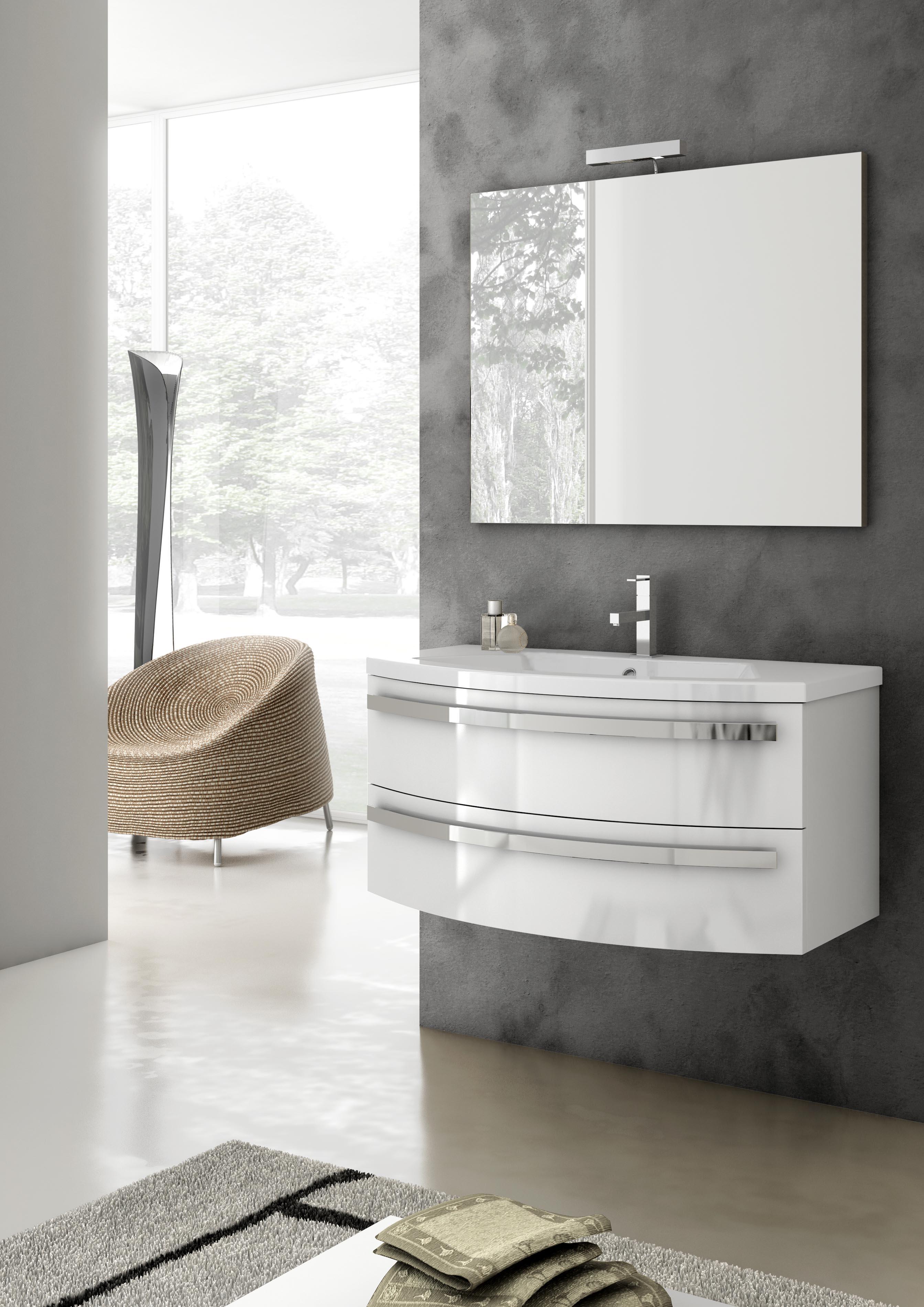 mobile da bagno savini larisa cm arte povera lavabo specchio