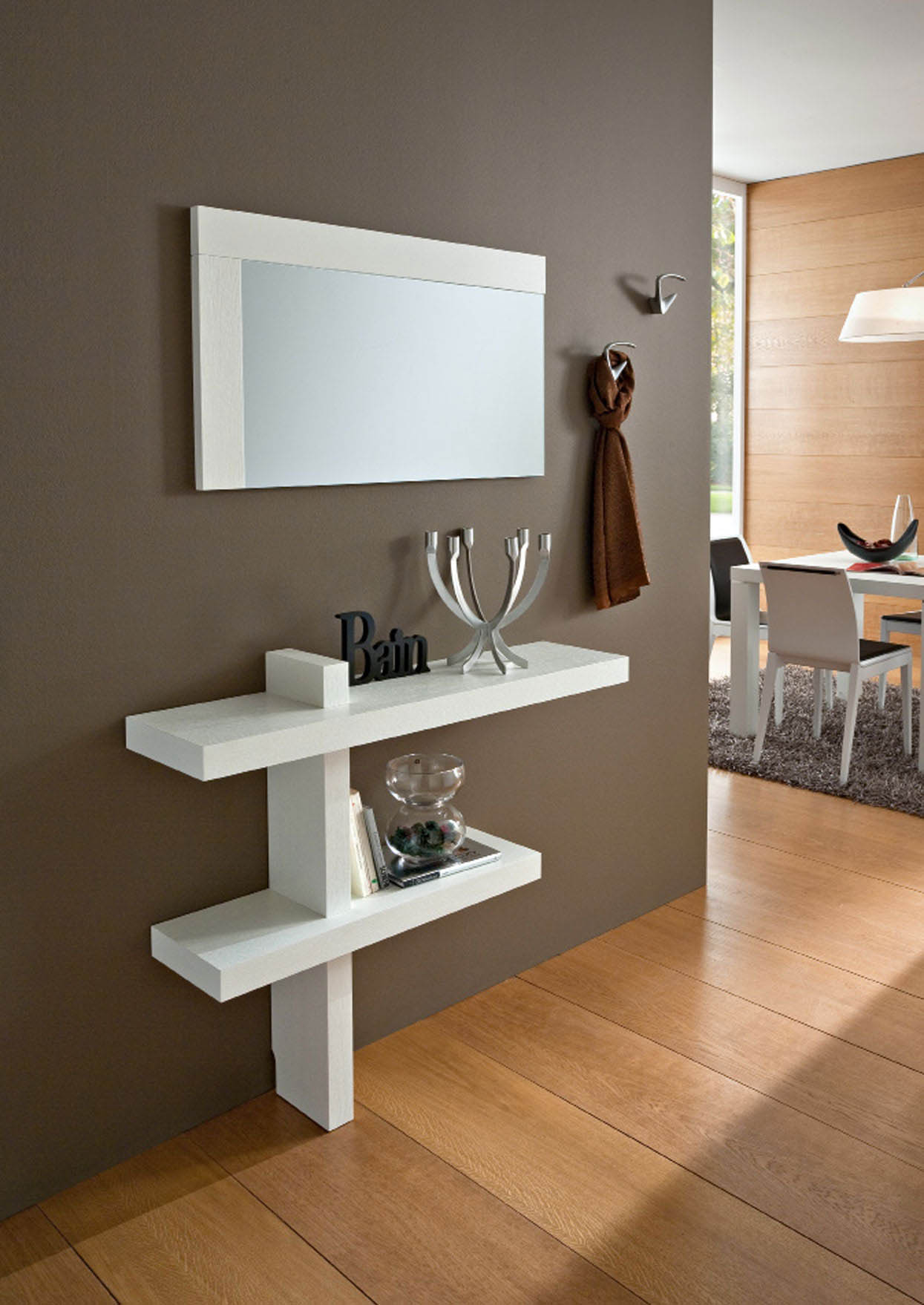 Mobile ingresso console bianco lucido o frassino sandy ebay for Mobile ingresso