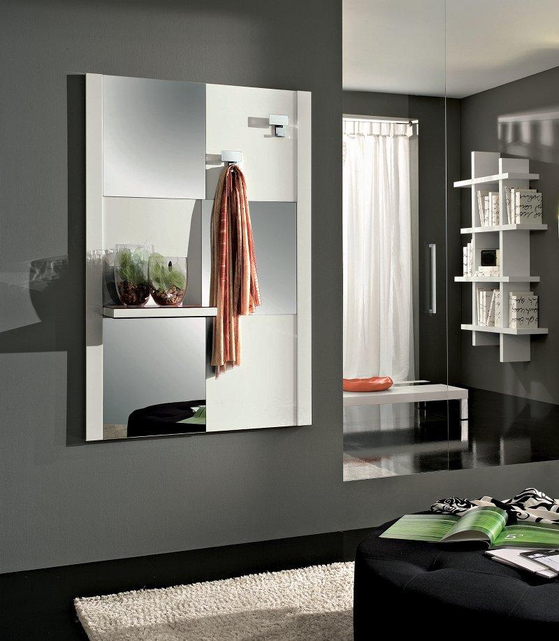 Micky lucido specchiera mobile ingresso specchio con for Arredo ingresso design