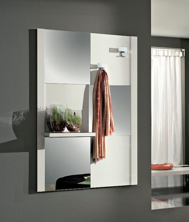 Micky lucido specchiera mobile ingresso specchio con mensola vari colori interno77 vendita - Colori a specchio ...