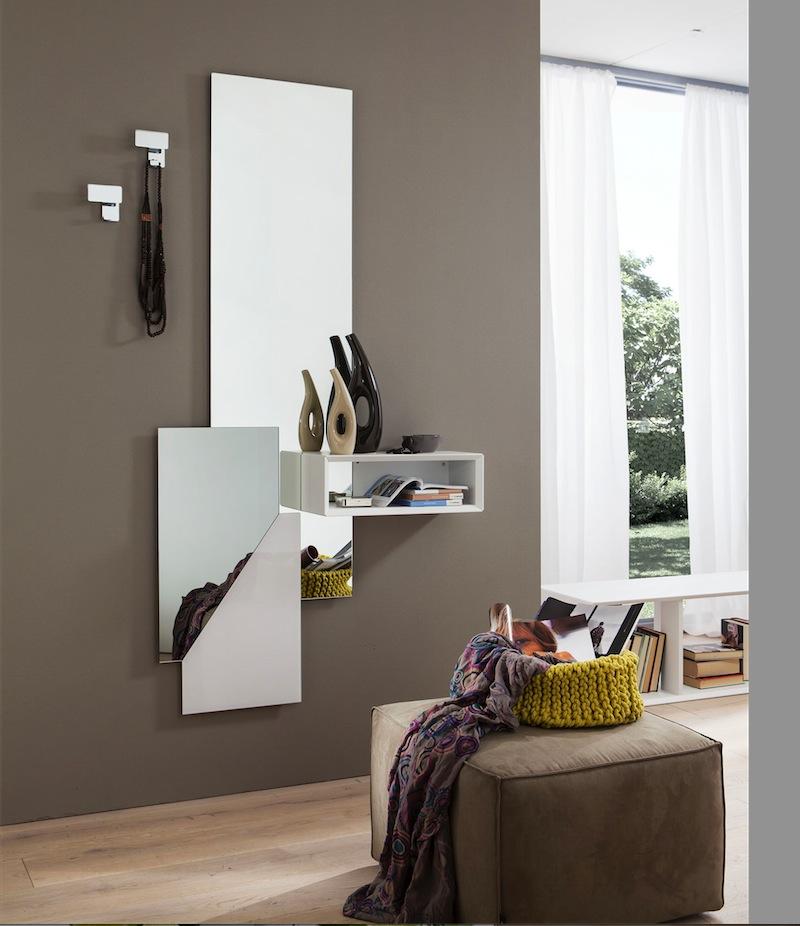 Lego 601 specchio mobile ingresso bianco interno77 for Mobili per ingresso moderni