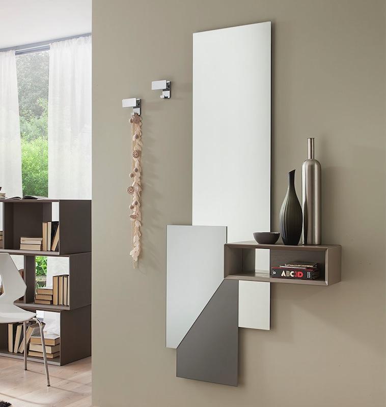 Mod lego 601 specchiera mobile ingresso bianco opaco o tortora interno77 vendita mobili e - Specchio ingresso moderno ...
