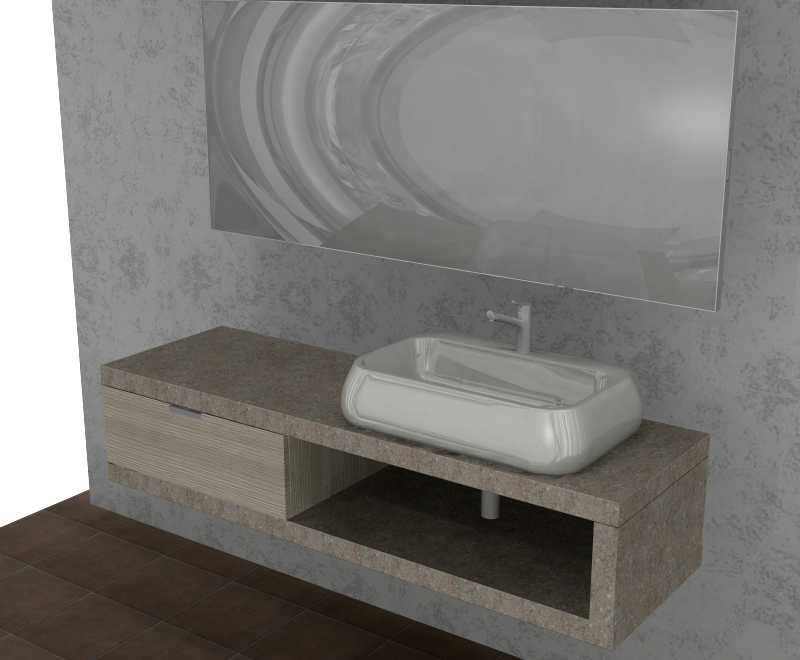 Mobile Bagno Moderno Sospeso Sotto Finestra ~ duylinh for