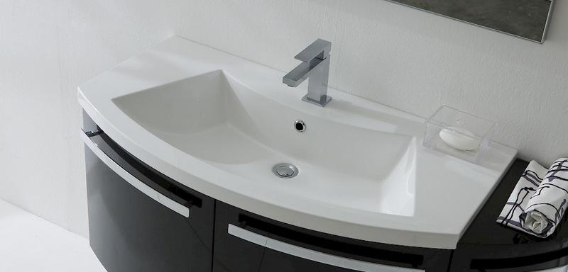 Mobile Bagno Curvo Moderno Sospeso Vari Colori Ly06 Bis Ebay