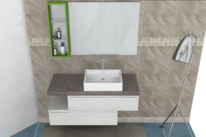 B201 74 mobile da bagno moderno vari colori l.121cm   interno77 ...