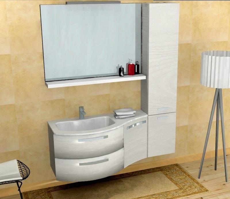 Mobile da bagno b201 50 con base curva con colonna - Mobile colonna bagno ...