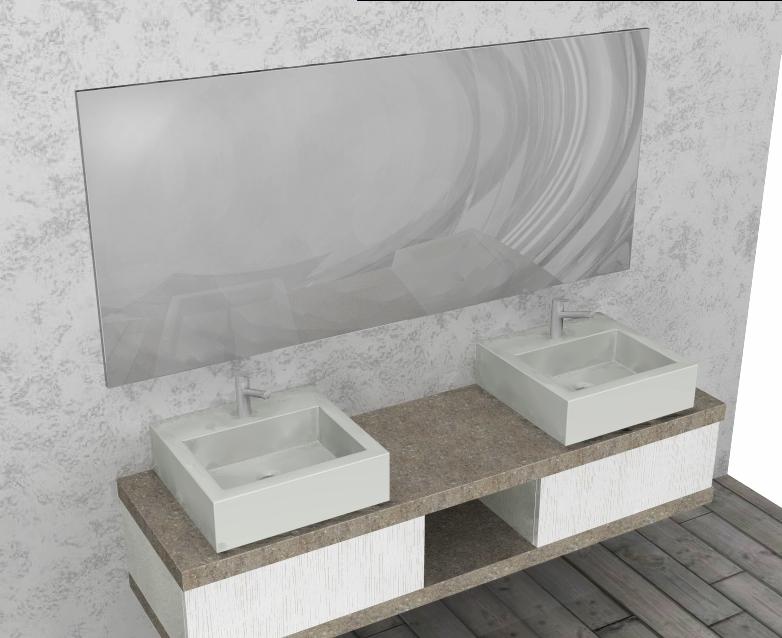 mobile da bagno quot lusso sospeso mod el l cm doppio lavabo con top