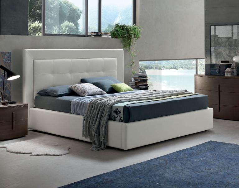 Deo letto matrimoniale imbottito design moderno for Design moderno del letto