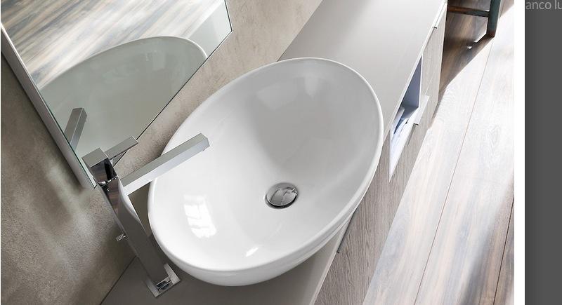 Mobile da bagno moderno b201 80 vari colori for Lavabo softly