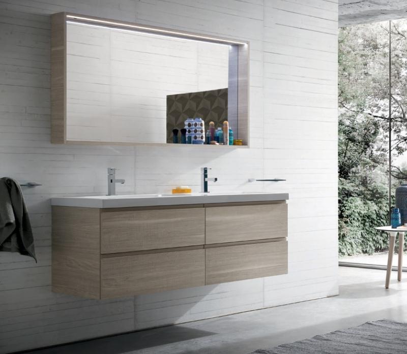 Mobile da bagno b go doppio lavandino vari colori - Bagno doppio lavandino ...